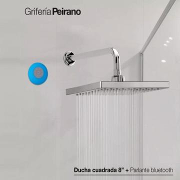 Ducha Cuadrada 8 Peirano Parlante Bluetooth Resistente Agua