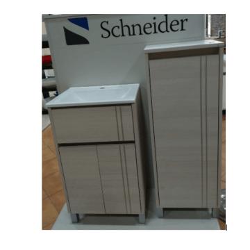 Vanitory Nature 60m Blanco Texturado Schneider con mesada incluida