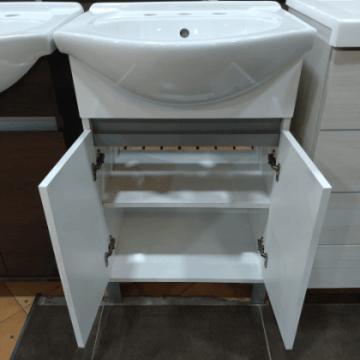 Vanitory 50cm Blanco Con Mesada Loza Rimini Water Van De Pie