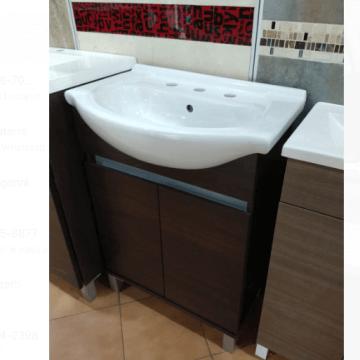 Vanitory 60cm Wengue Con Mesada Loza Rimini Water Van De Pie