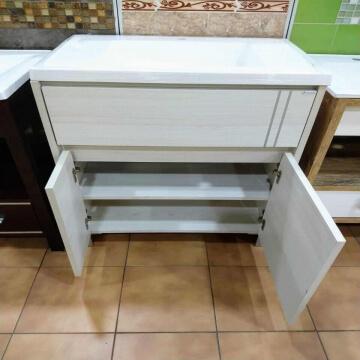 Vanitory Nature 70cm Blanco Texturado con mesada de losa incluida Schneider