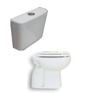 Combo inodoro corto, asiento y mochila de colgar ultrachata