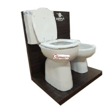 Combo Inodoro Alto Deposito Bidet y Tapa de baño Jade Max Pringles