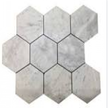 Malla Bizantina Hexagono Grande 32,5X40 Carrara Brill 966