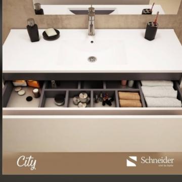 Vanitory 1.20 Metro Blanco City Schneider Mesada De Loza Incluida