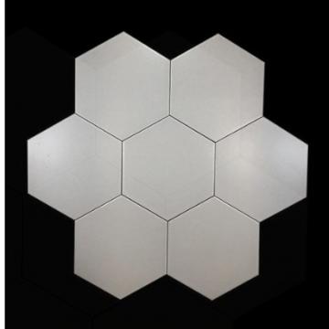 Ceramica Bizantina Hexagono 20X23 Cj.1M2 Alaska Blanco